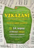 VZKÁZÁNÍ - KONCERT PĚVECKÉHO SBORU VALENTIN 1